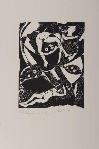 JORIS MINNE (1897-1988) There is a girl in my netlon!, 1970. Ensemble de 25 gravures...