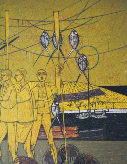 Gustave CAMUS (1914-1984) La réconciliation, 1963 Huile sur toile Signée et datée...