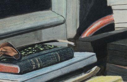 Léon Spilliaert (1881-1946) Autoportrait aux livres, 1907 Pastel, gouache, craie...