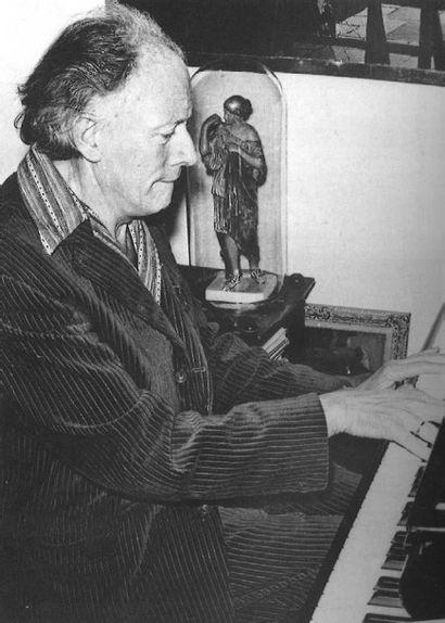 Paul DELVAUX (1897-1994) Les deux amies, 1964 Plume et lavis d'encre de Chine sur...
