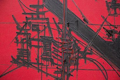 Georges MATHIEU (1921-2012) Harley, 1970 Huile sur toile. Signée et datée en bas...