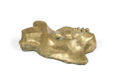Jean MESSAGIER (1920-1999) Sans titre Bronze doré signé à la base. Numéroté 2/5....