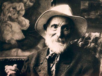Pierre-Auguste RENOIR (1841-1919) Nature morte aux fraises Huile sur toile. Trace...