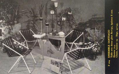 MATHIEU MATÉGOT (1910-2001) Hongrie & France Table modele «Santiago» Tôle, métal...