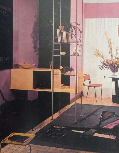 MATHIEU MATÉGOT (1910-2001) Hongrie & France Table basse modèle «Soumba» Tôle laquée...