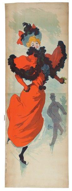 Jules CHÉRET (1836-1932) Palais des glaces, avant la lettre, 1893 Affiche. Signée...