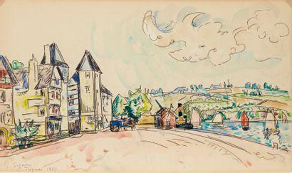 Paul SIGNAC (1863-1935) Treguier, 1927 Aquarelle. Signée et datée 1927 en bas à gauche....