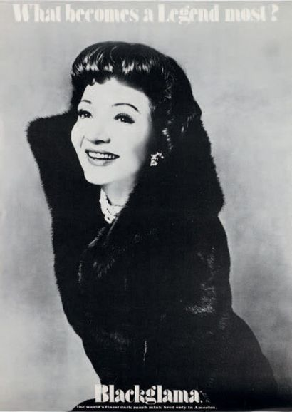 WHAT BECOMES A LEGEND MOST? Claudette Colbert,...