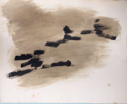 Composition, vers 1959 Aquarelle et encre...