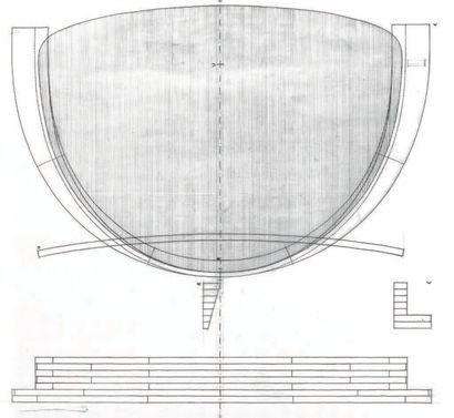 Poul KJAERHOLM (1929-1980) Danemark Suite de six chaises modèle «PK 11» Métal chromé,...
