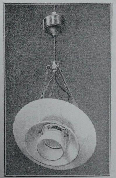 Poul Henningsen (1894-1967) Danemark Rare lustre de dentiste modèle «4/4» Acier nickelé...