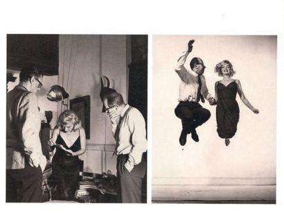 Philippe HALSMAN Jump series, Marilyn Monroe Tirage argentique d'époque. Tampon au...