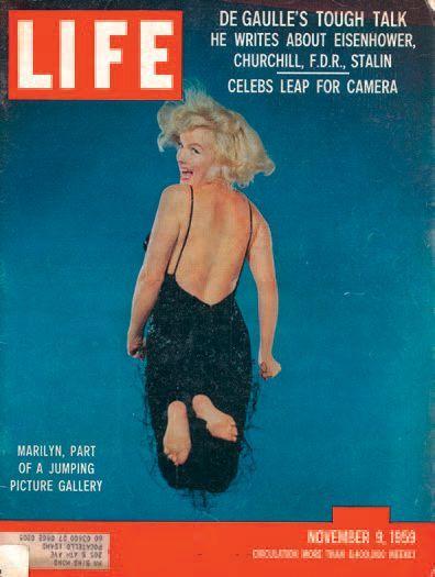 Philippe HALSMAN CM Jump series, Marilyn Monroe, 1959 Tirage argentique d'époque....