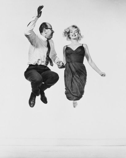 Philippe HALSMAN Jump series, Philippe Halsman and Marilyn Monroe, vers 1958 Tirage...