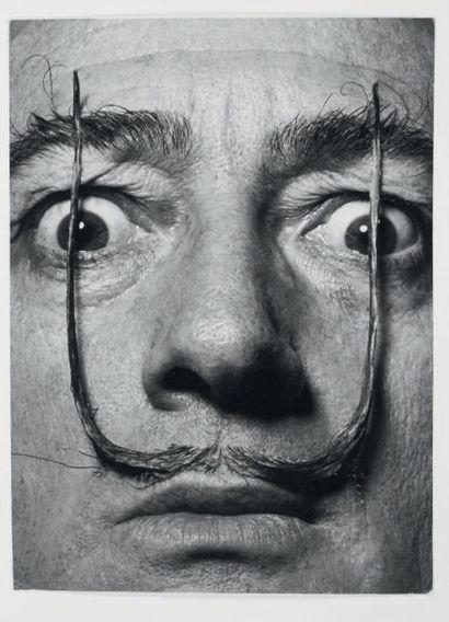 Philippe HALSMAN Dali's Mustache Tirage argentique d'époque. Tampon au dos. H_34...
