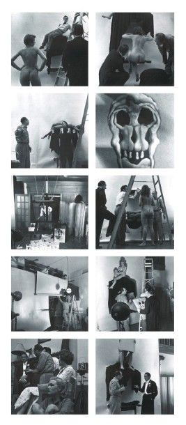 Philippe HALSMAN In Voluptate Mors ou Leopard Skull, 1951 Tirage argentique d'époque....