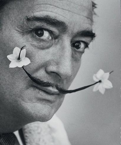 Philippe HALSMAN Portrait de Salvador Dali Tirage argentique d'époque. Tampon au...