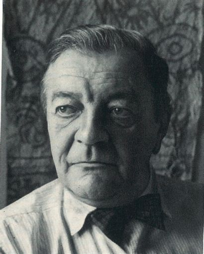 HANS REICHEL (1882-1958) Composition au poisson, vers 1956 Gravure sur papier Monogrammée...