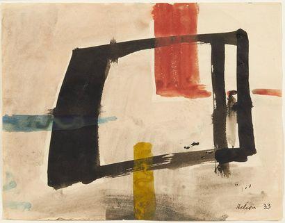 Jean HÉLION (1904-1987) Équilibre, 1933 Aquarelle sur papier Signée et datée en bas...