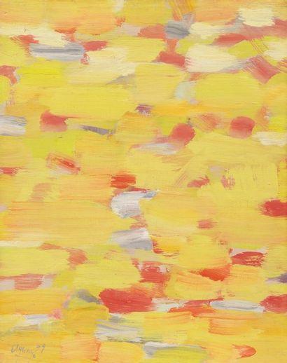Fermin AGUAYO (1926-1977) Composition abstraite, 1959 Huile sur papier marouflé sur...