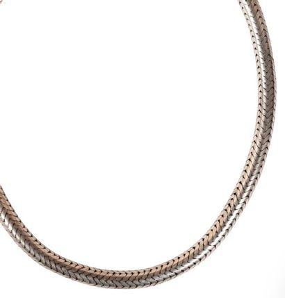 Collier cable en argent. Collar cable de...