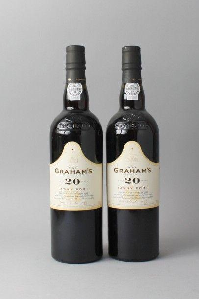 * 2 Bouteilles PORTO GRAHAM'S TAWNY 20 Y...