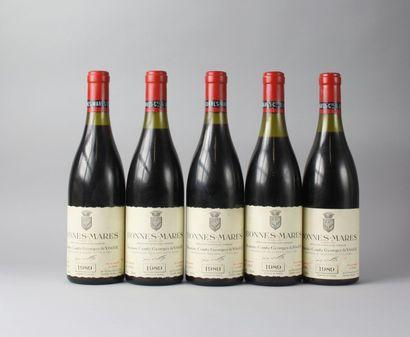 * 5 Bouteilles BONNES MARES Grand Cru - COMTE...