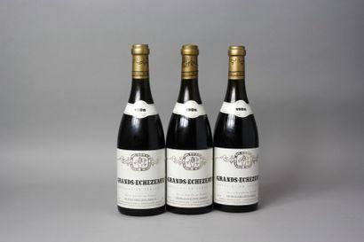 3 Bouteilles GRAND ECHEZEAUX Grand Cru -...