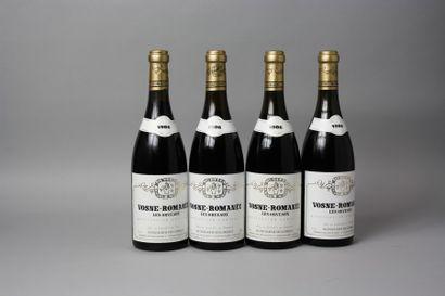 4 Bouteilles VOSNE ROMANEE «Les Orveaux»...