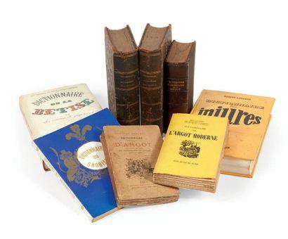 ARGOT: Lot de 8 volumes (format divers) sur...