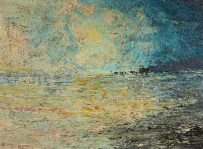 JEAN-CLAUDE CARDINAUX (NÉ EN 1943) Lever de soleil Huile sur toile. Signée en haut...