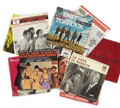 LOT DE POCHETTES DE DISQUES des bandes originales...