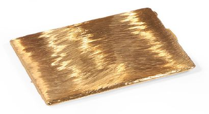 ÉTUI à cigarettes en métal doré