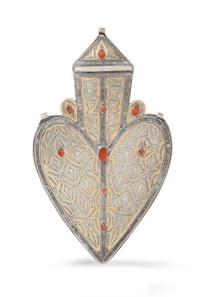 Grand pendentif dorsal, Asyk, Tekké, Turkestan,...