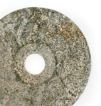 Grand disque en pierre, Chine. D_30 cm Disco...