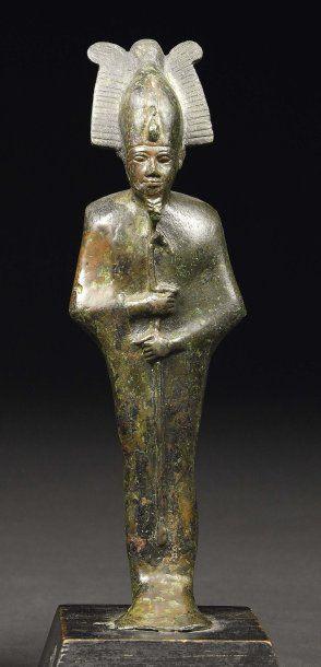 Statuette votive représentant le dieu Osiris-Ptah....