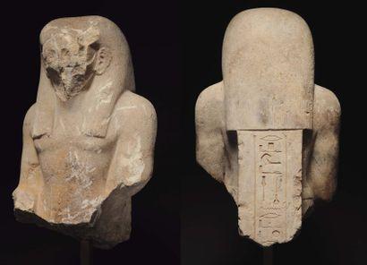Grand buste de statue représentant un Grand...