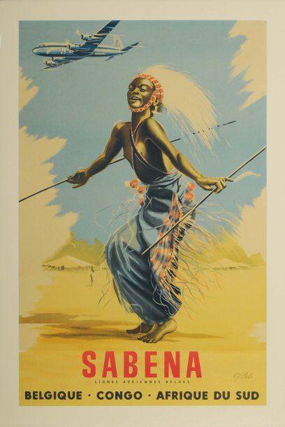 SABENA, BELGIQUE-CONGO-AFRIQUE DU SUD Artiste...