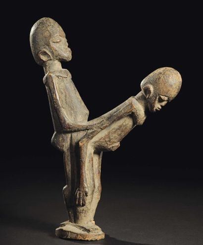 COUPLE LOBI Burkina Faso Bois H_30 cm Provenance...