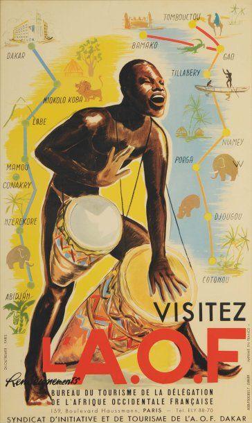 VISITEZ L'AFRIQUE OCCIDENTALE FRANÇAISE Imprimeur...
