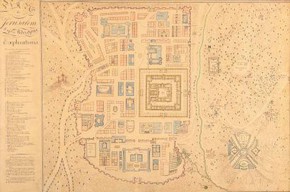 Plan de Jérusalem, d'après Adrichome. Plume...