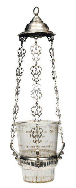 Lampe commémorative de Synagogue en argent...