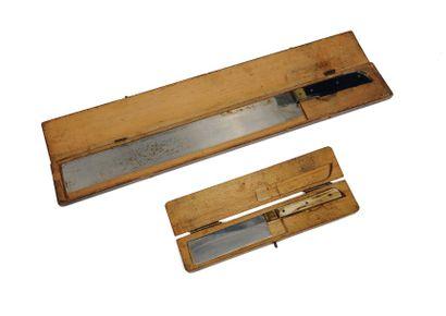 Paire de couteaux pour le rituel de l'abattage....