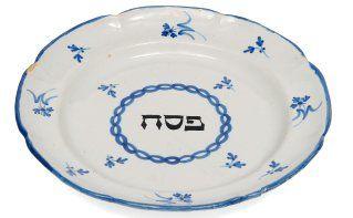 assiette de Pessah en faïence décorée de...