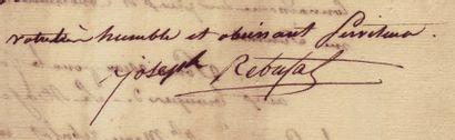 ELBE 1814, ÎLE D'. Lettre signée de JOSEPH REBUFAT