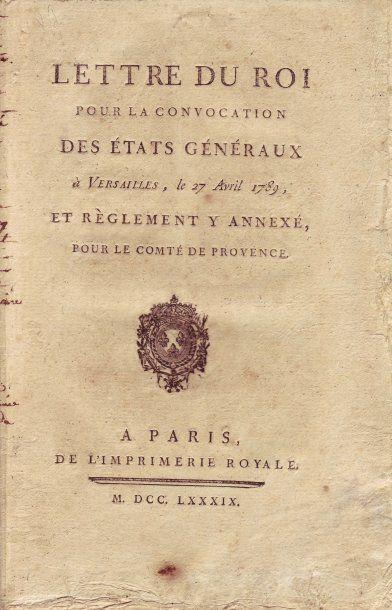 ETATS GÉNÉRAUX, 1789