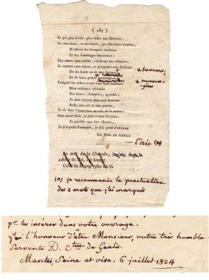 GENLIS, STÉPHANIE FÉLICITÉ DU CREST DE SAINT-AUBIN, COMTESSE DE (1746-1830)