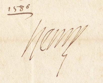 HENRI III (1551-1589)