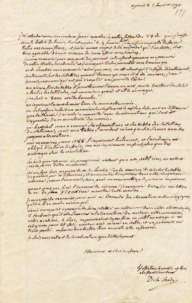 LALANDE, JOSEPH JÉRÔME DE (1732-1807)