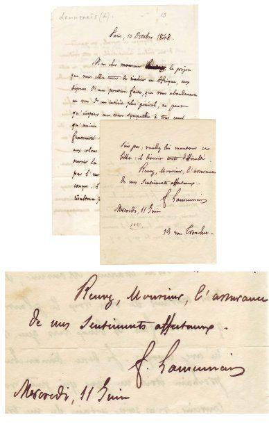LAMENNAIS, FÉLICITÉ ROBERT DE (1782-1854)